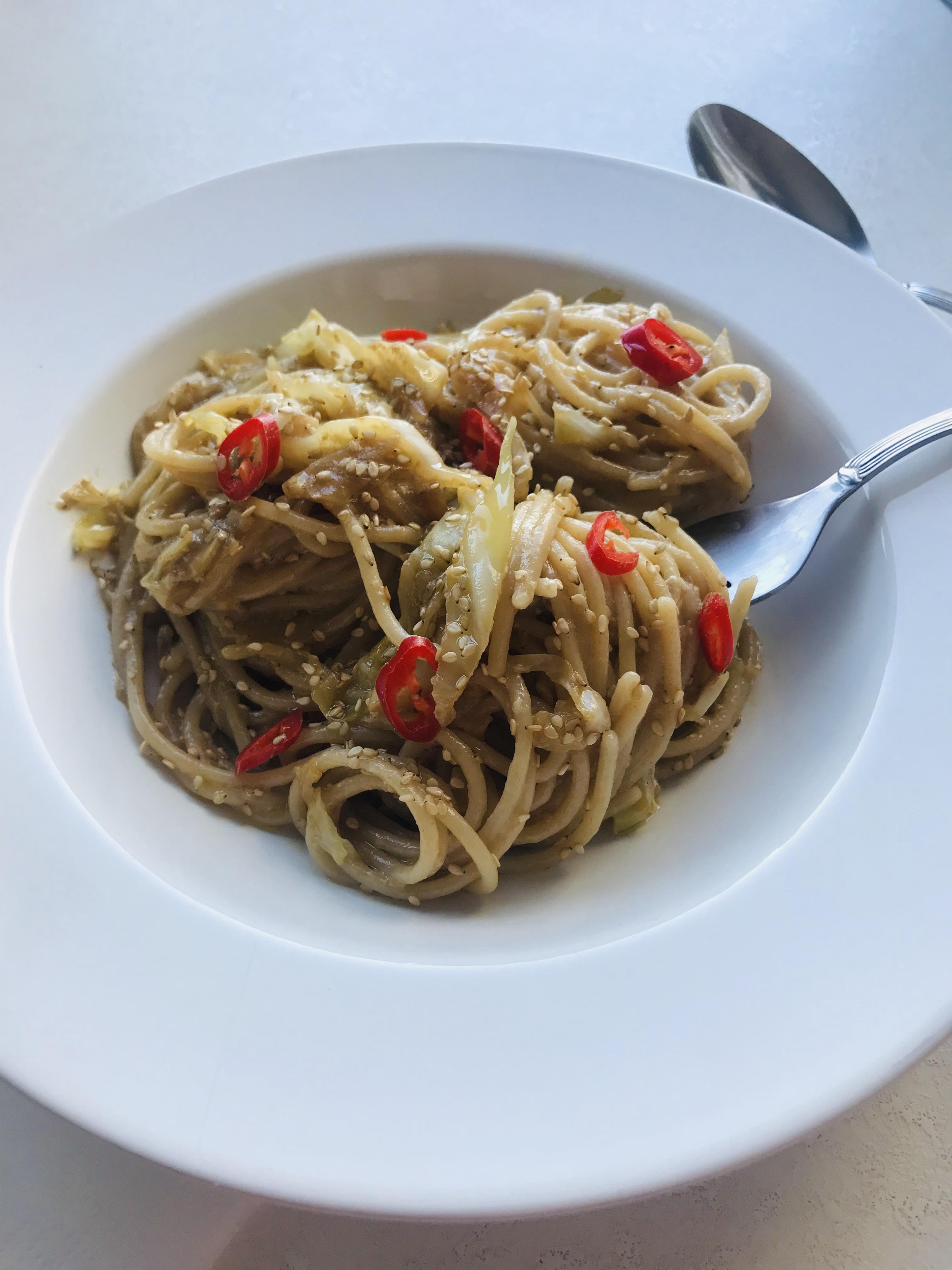 Spaghete de Orez cu sos Asiatic